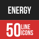 Energy Filled Line Icons