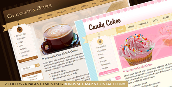Chocolate & Coffee - HTML Template including PSD - Retail Site Templates