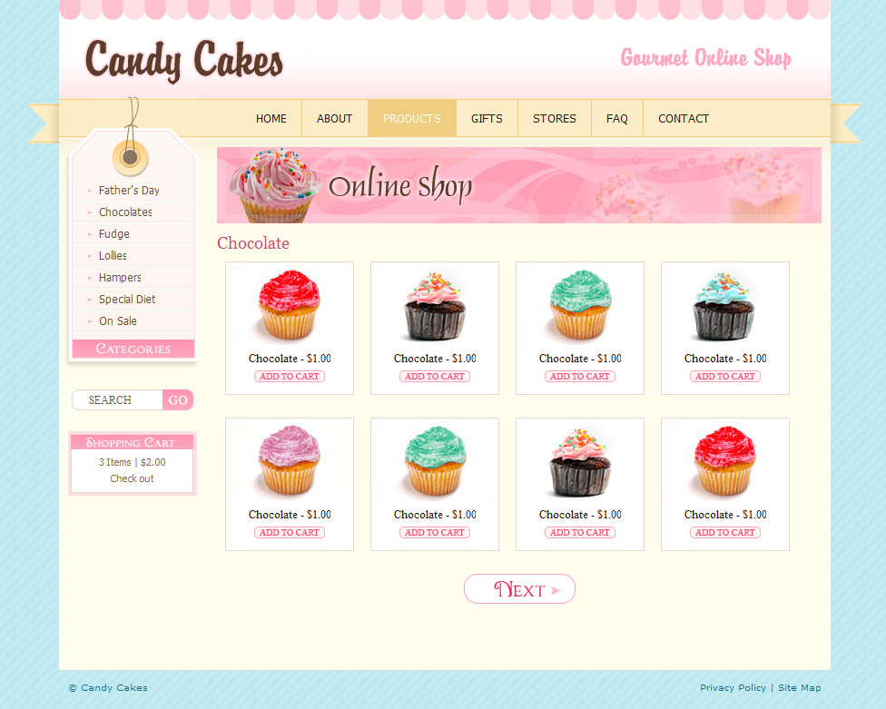 Template Wordpress Cake Design : Chocolate Coffee & Cupcakes - HTML by dtbaker ThemeForest