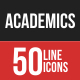 Academics Filled Line Icons