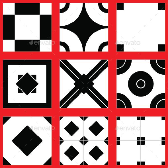 9 Tiles Floor - 3DOcean Item for Sale