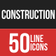 Construction Filled Line Icons