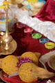 Traditional Indian Hindu religious praying objects