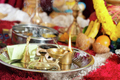 Traditional Indian Hindu praying ceremony