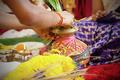 Traditional Indian Hindu praying items