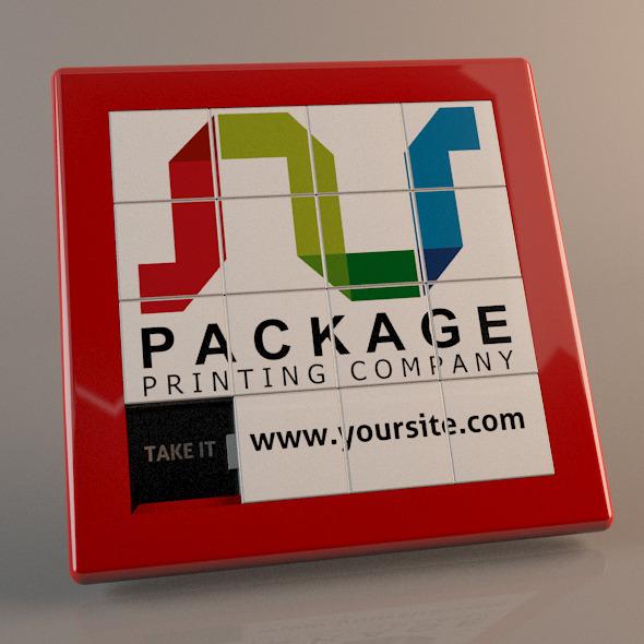 Slide Puzzle - 3DOcean Item for Sale