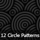 12 Seamless Circle Photoshop Patterns - GraphicRiver Item for Sale