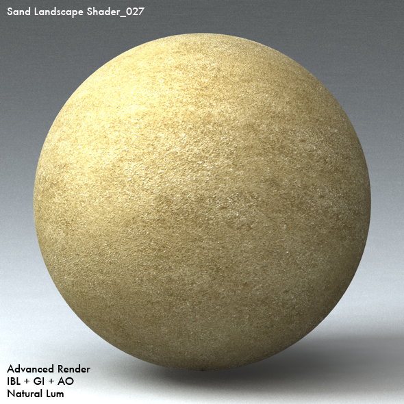 Sand Landscape Shader_027 - 3DOcean Item for Sale