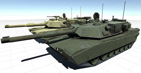 Abrams Tank - 3DOcean Item for Sale
