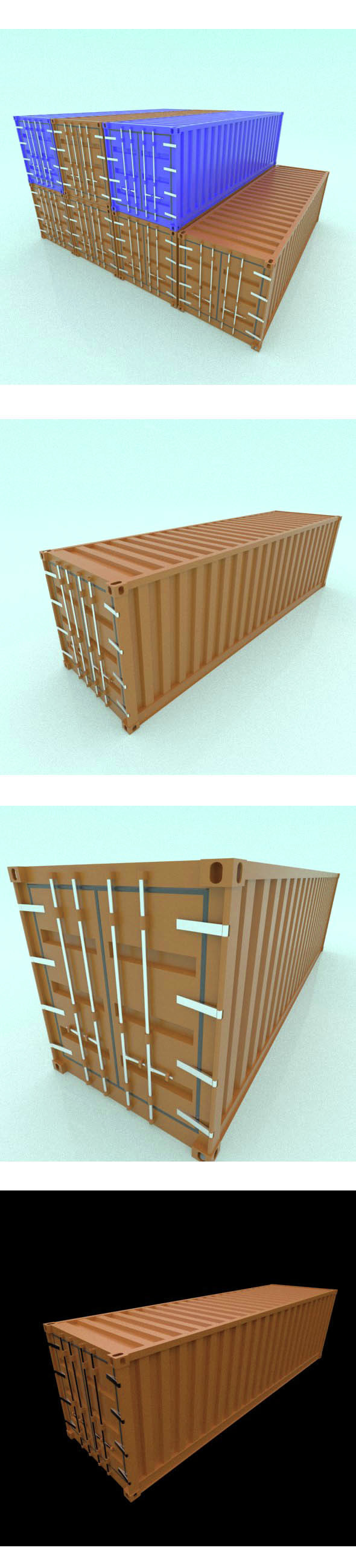 Shipping Container - 3DOcean Item for Sale
