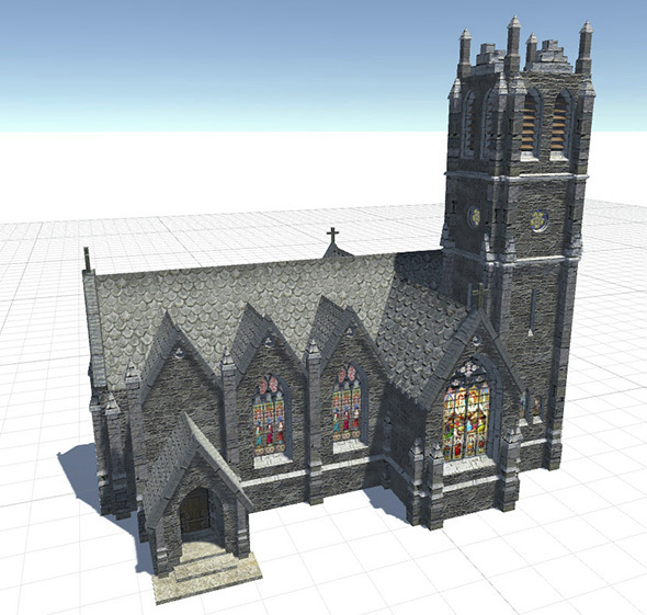 Gothic Church - 3DOcean Item for Sale