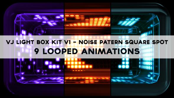 Vj Light Box Kit V1 - Circular Patern Square Spot Pack - 4