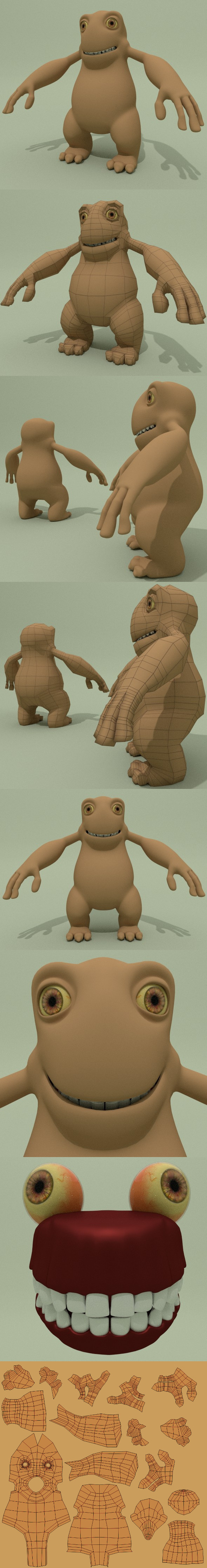 Nice Low Poly Monster - 3DOcean Item for Sale
