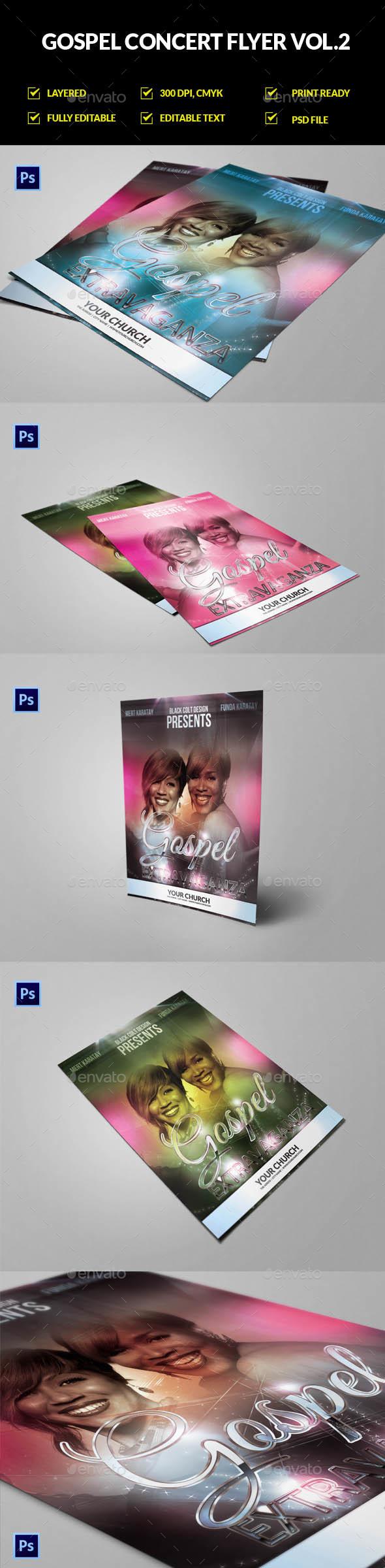 Church Concert Flyer Graphics, Designs & Templates