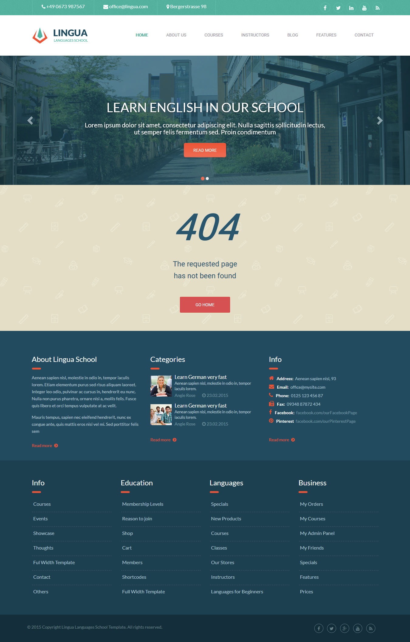 Lingua html version responsive multipurpose template by for 404 not found html template