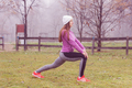 Fitness Woman Outdoor Exercise