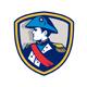 Napoleon Bonaparte Bicorn Hat Crest Retro