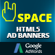 HTML5 Animated Banner Templates | «Space banner»