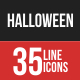 Halloween Filled Line Icons