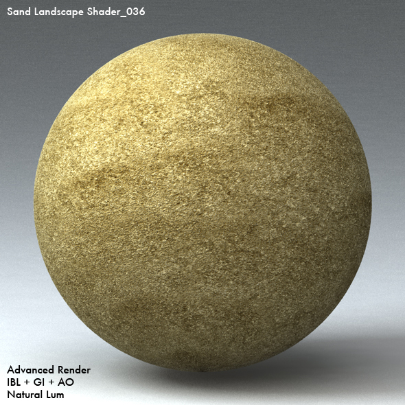 Sand Landscape Shader_036 - 3DOcean Item for Sale