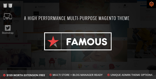 Famous - Responsive Multi-Purpose Magento Theme