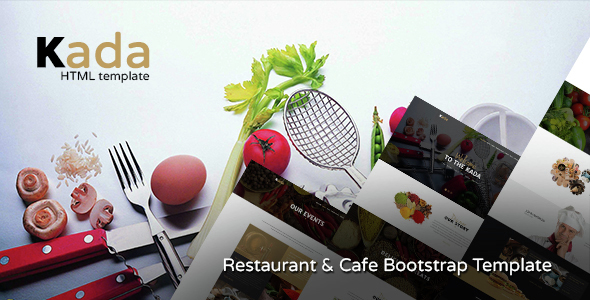 Kada - Restaurant & food Bootstrap Template