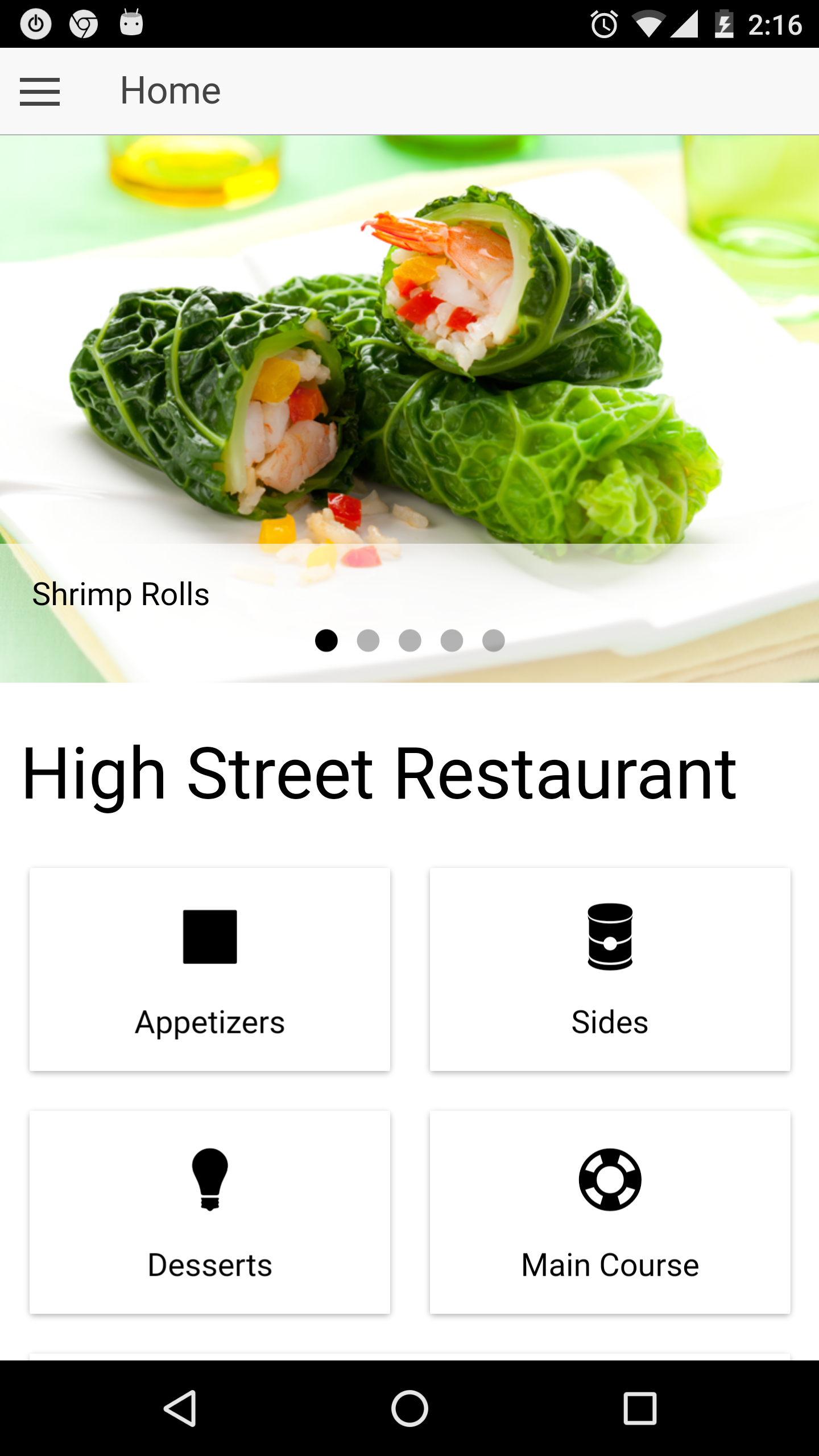 Restaurant ionic full application with firebase backend - Application android cuisine ...