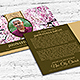 Cherry Blossom Funeral Post Card Template