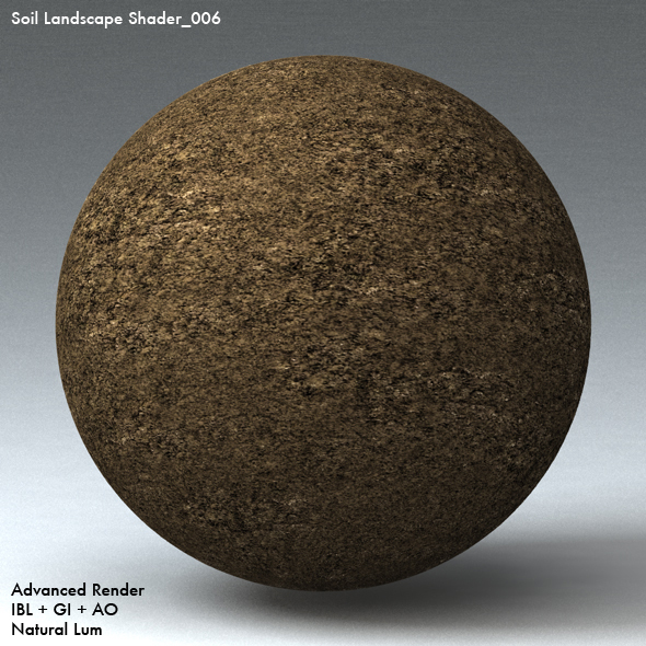 Soil Landscape Shader_006 - 3DOcean Item for Sale
