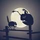 Black Cat vs Dark Pumpkin - GraphicRiver Item for Sale