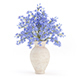 Blue Flowers in Ceramic Vase