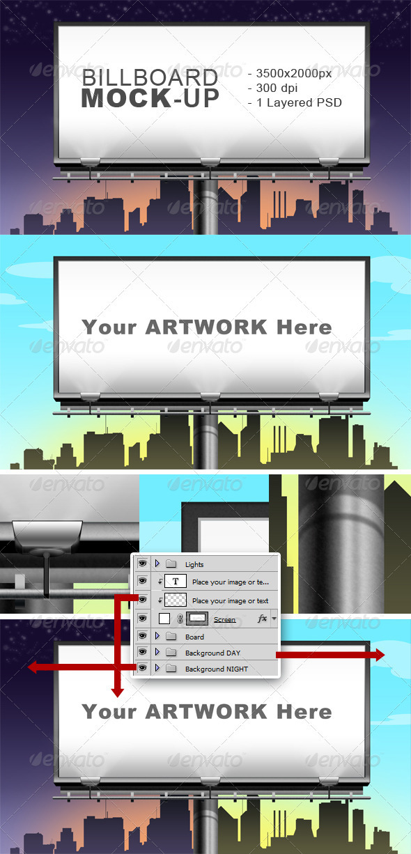 Graphic River Billboard Mock-up Graphics -  Product Mock-Ups  Print 1468217