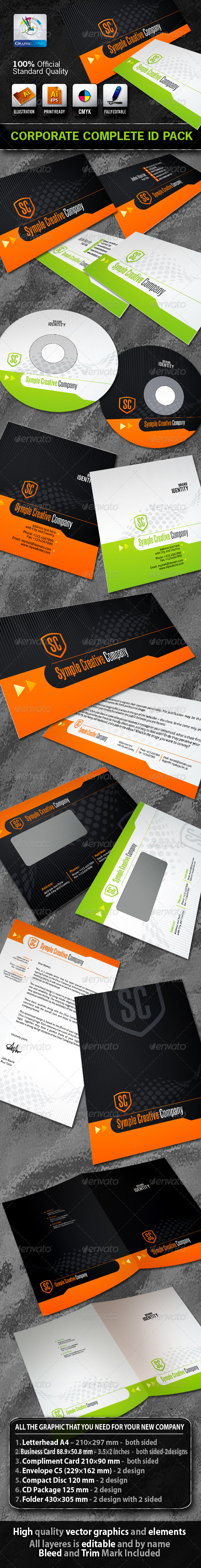 Graphic River SimpleCreative Business Corporate ID Pack & Logo Print Templates -  Stationery 1468804