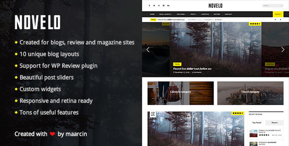 Novelo - Responsive WordPress Blog Theme
