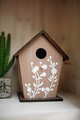 wedding decor nesting box at restaurant with all beauty and flowers