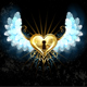 Mechanical Heart with White Wings