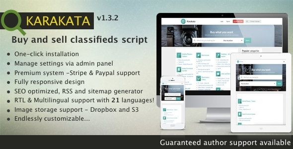 Karakata PHP classified buy and sell marketplace