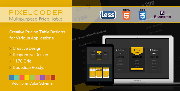 CP - Multipurpose HTML Pricing Table 80+ Unique Design - CodeCanyon Item for Sale