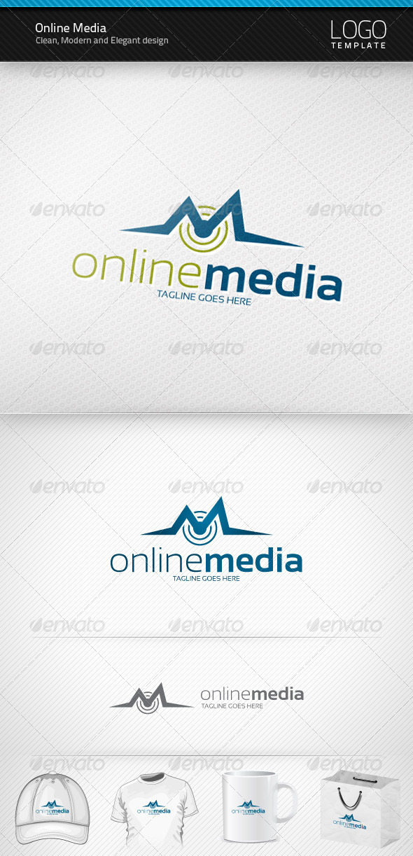 Graphic River Online Media Logo Logo Templates -  Letters 1469460