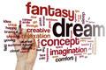 Imagination word cloud concept