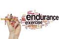 Endurance word cloud concept
