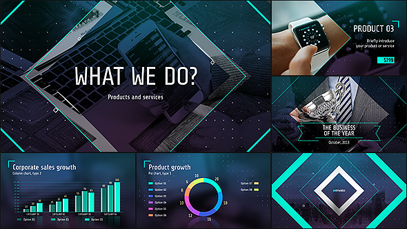 Business of the future modern corporate presentation by for Company profile after effects templates free download