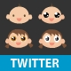 Cute Babies - Twitter Follow Me Button - ActiveDen Item for Sale