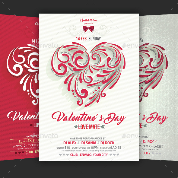 Valentines Day Flyer By Creativevalues