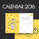 2016 Calendar with Monkeys