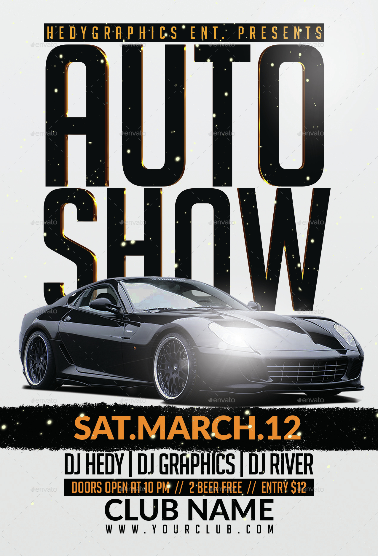 Auto Show Flyer Template by HedyGraphics – Car Show Flyer Template