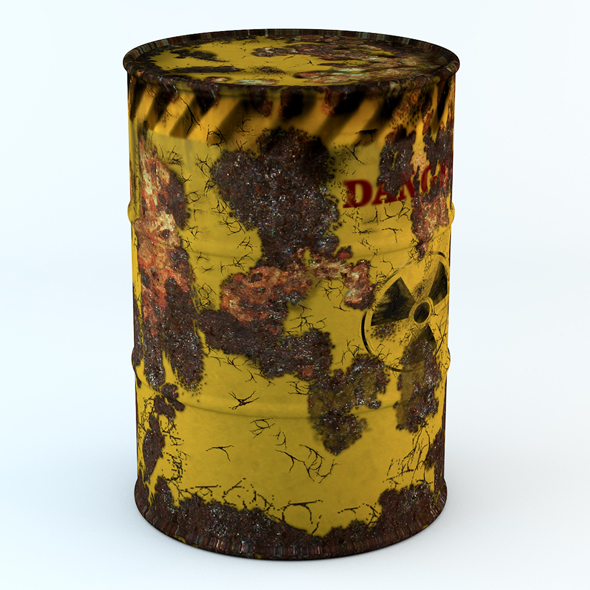 Model rusty barrel - 3DOcean Item for Sale