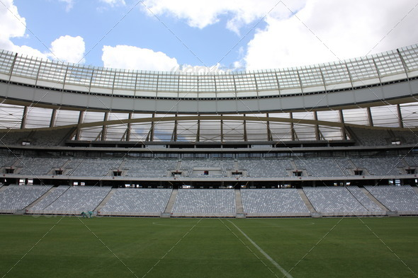 Inside Cape Town Soccer Stadium 2 - Stock Photo - Images