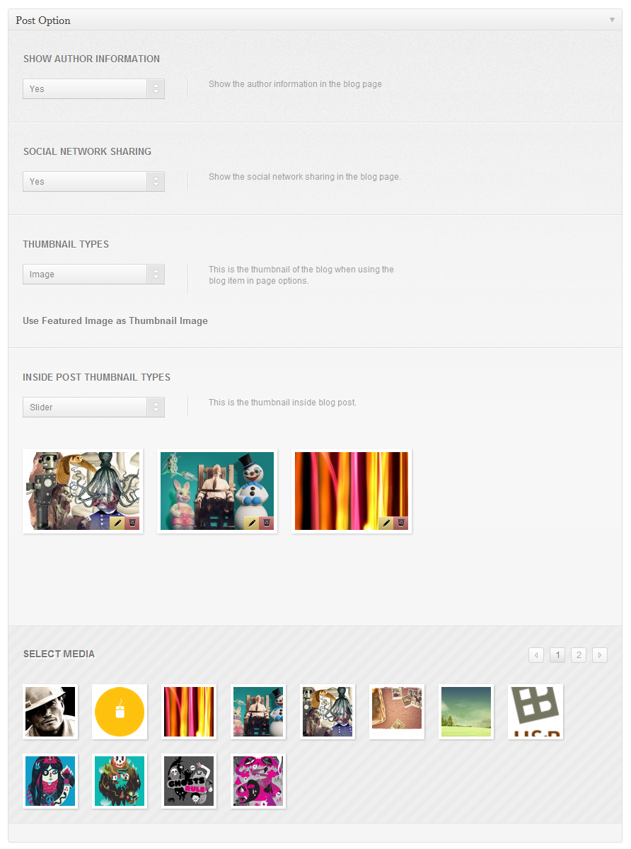 Slide One - One Page Parallax, Ajax WP Theme  - adminpanel