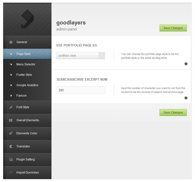 Slide One - One Page Parallax, Ajax WP Theme  - adminpanel